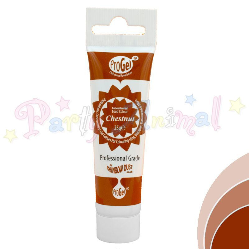 Rainbow Dust Edible Food Colour Pro Gel - CHESTNUT