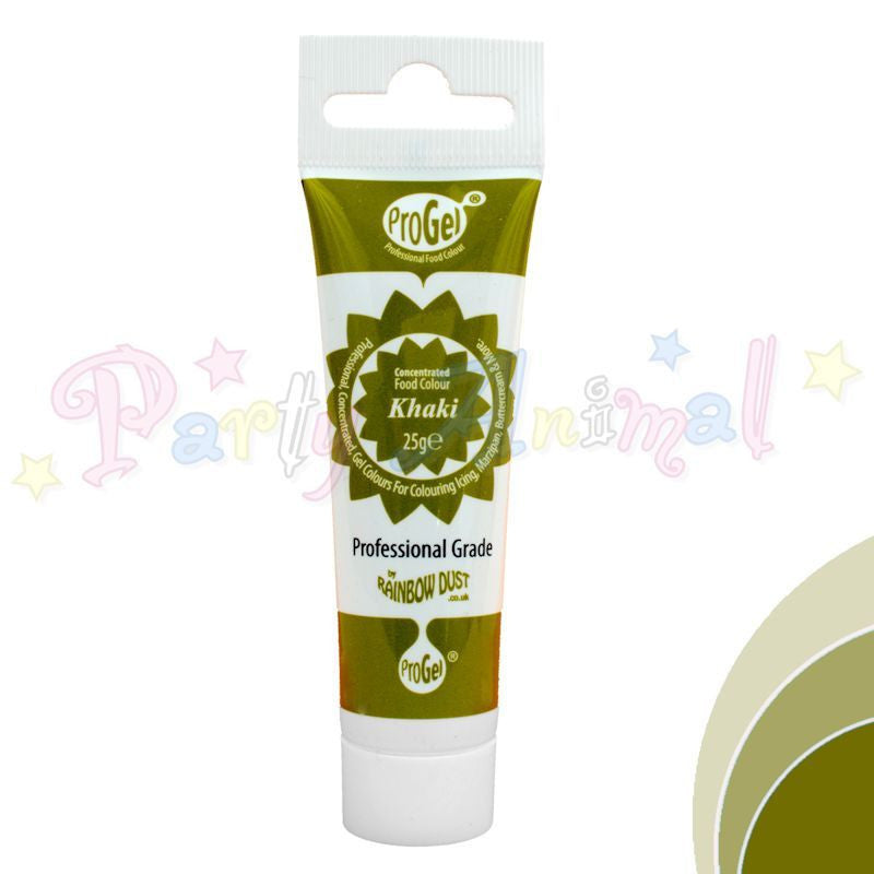 Rainbow Dust Edible Food Colour Pro Gel - KHAKI