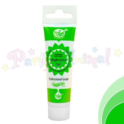 Rainbow Dust Edible Food Colour Pro Gel - BRIGHT GREEN