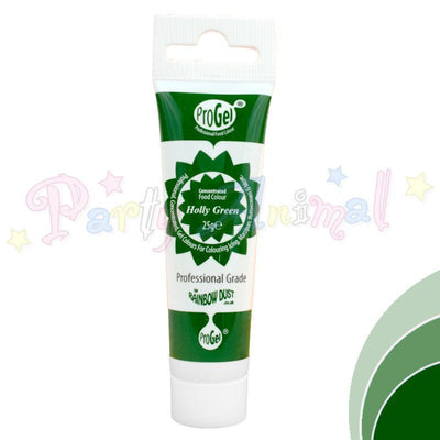 Rainbow Dust Edible Food Colour Pro Gel - HOLLY GREEN