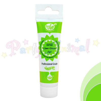 Rainbow Dust Edible Food Colour Pro Gel - LIME GREEN