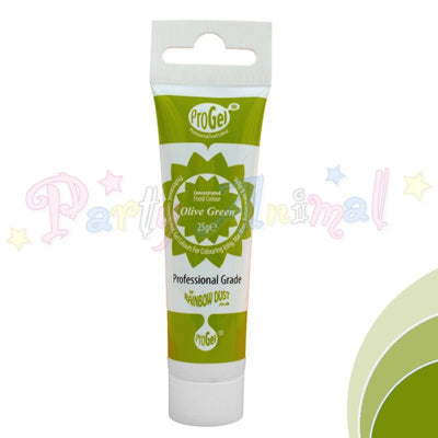 Rainbow Dust Edible Food Colour Pro Gel - OLIVE GREEN
