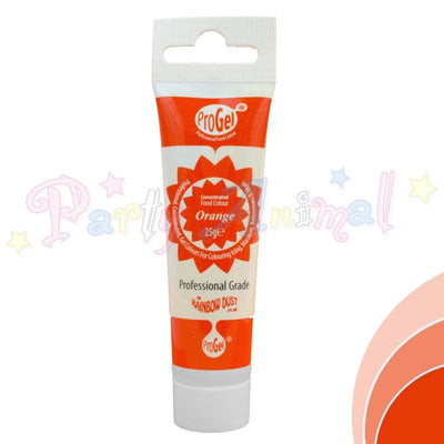 Rainbow Dust Edible Food Colour Pro Gel - ORANGE