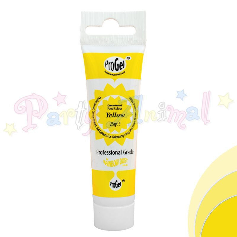 Rainbow Dust Edible Food Colour Pro Gel - YELLOW