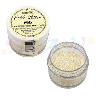 Rainbow Dust Edible Glitter Colour - IVORY
