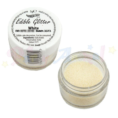 Rainbow Dust Edible Glitter Colour - WHITE