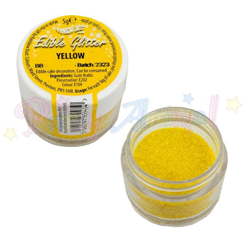 Rainbow Dust Edible Glitter Colour - YELLOW