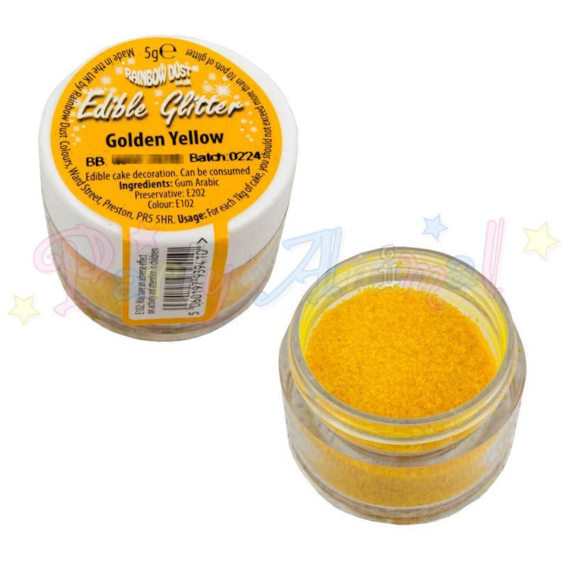 Rainbow Dust Edible Glitter Colour - GOLDEN YELLOW