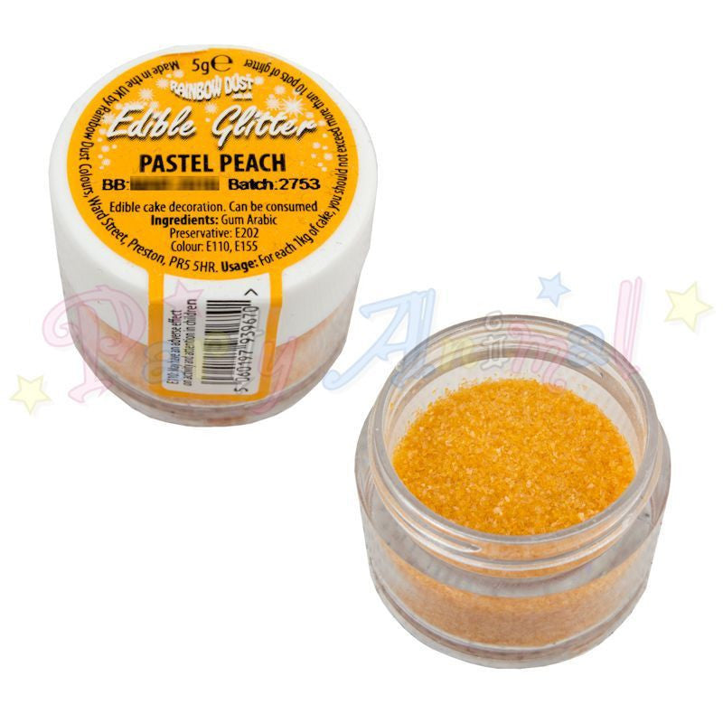 Rainbow Dust Edible Glitter Colour - PASTEL PEACH