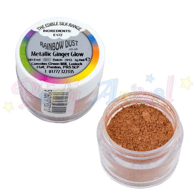 Rainbow Dust. image. edible. food dust. metallic ginger glow. from partyanimalonline. image.