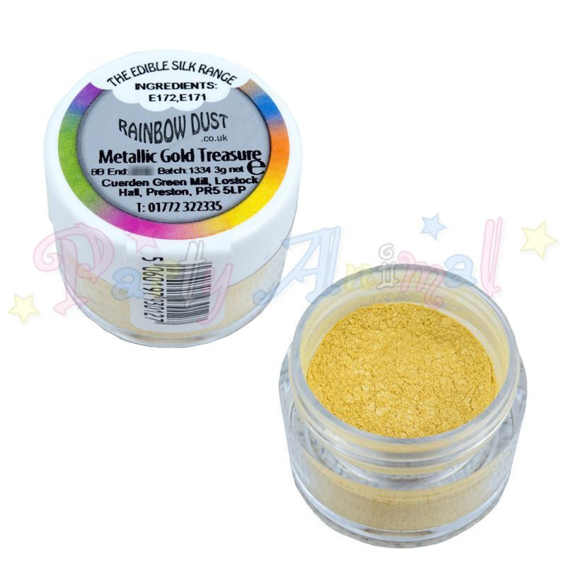 Rainbow Dust  Edible Silk Range - METALLIC GOLD TREASURE