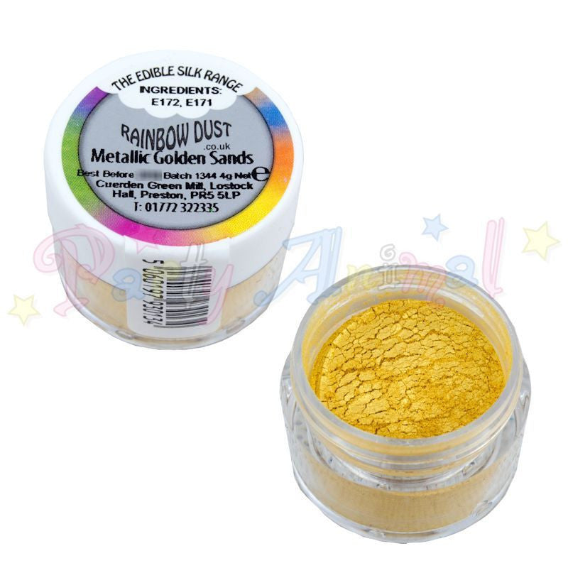 Rainbow Dust  Edible Silk Range - METALLIC GOLDEN SANDS