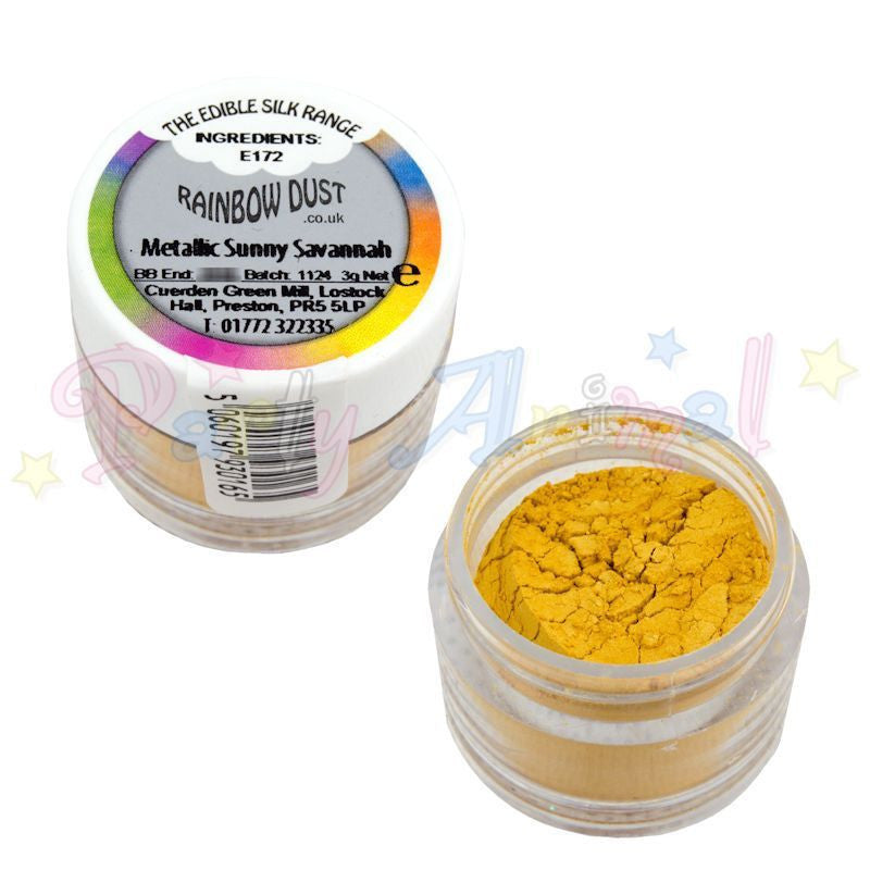 Rainbow Dust  Edible Silk Range - METALLIC SUNNY SAVANNAH