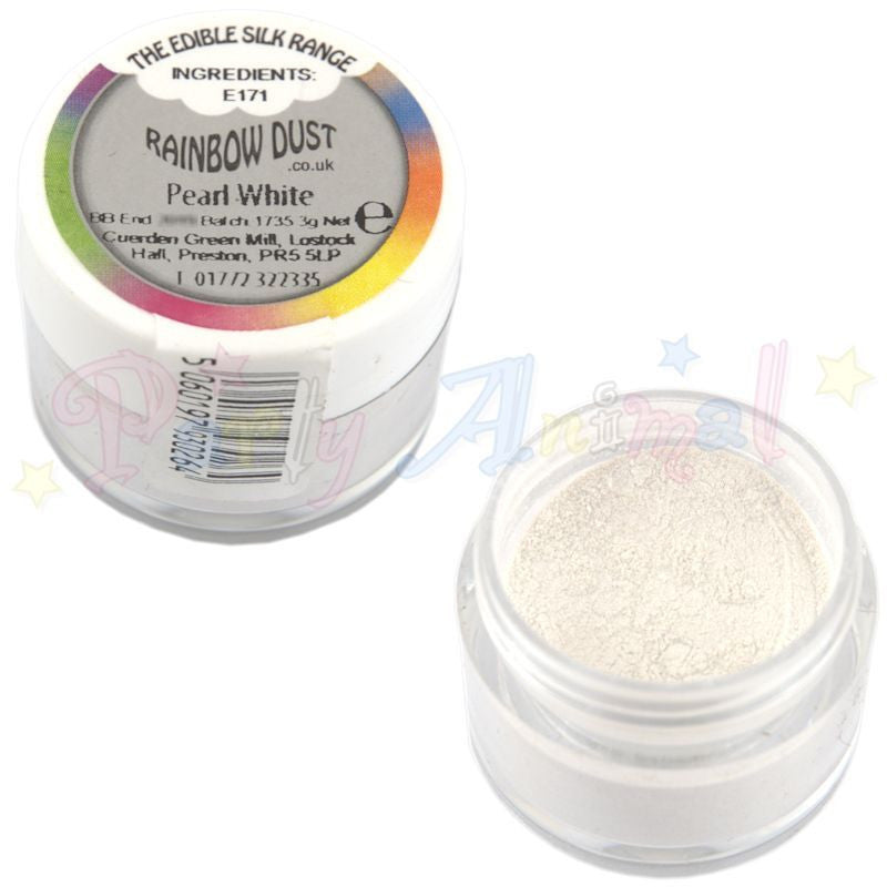 Rainbow Dust  Edible Silk Range - PEARL WHITE