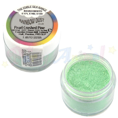 rainbow dust. edible. pearl crushed pine. green. edible. image. partyanimalonline.