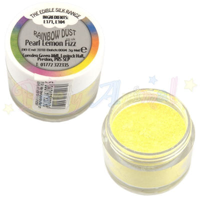 image. edible. rainbow dust. partyanimalonline. pearl lemon fizz. cake decorating