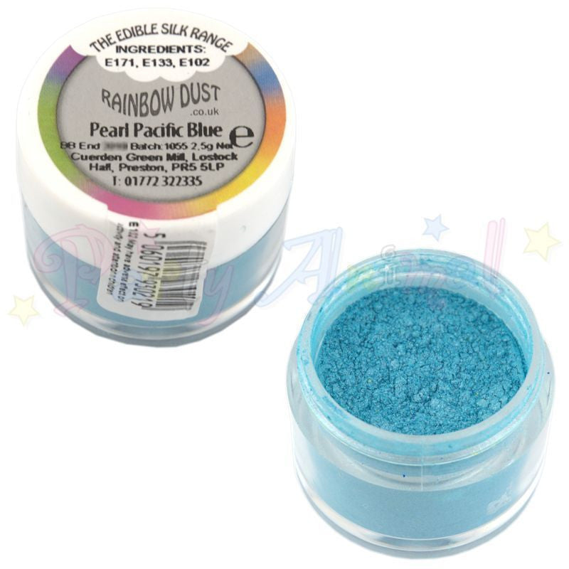 Rainbow Dust  Edible Silk Range - PEARL PACIFIC BLUE