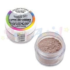 Rainbow Dust Cappuccino Shimmer edible silk dust. Image. from partyanimalonline