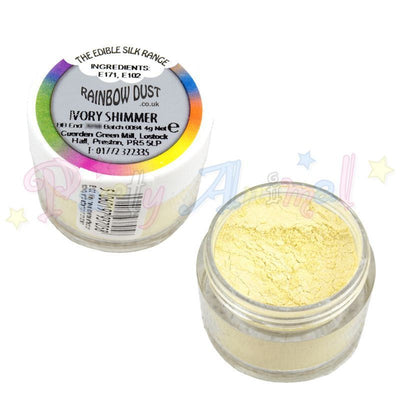 Rainbow Dust edible pearl range. Ivory Shimmer. Partyanimalonline Image
