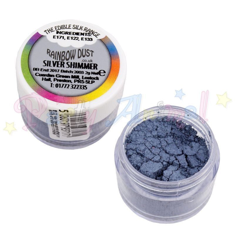 Rainbow Dust  Edible Silk Range - SILVER SHIMMER