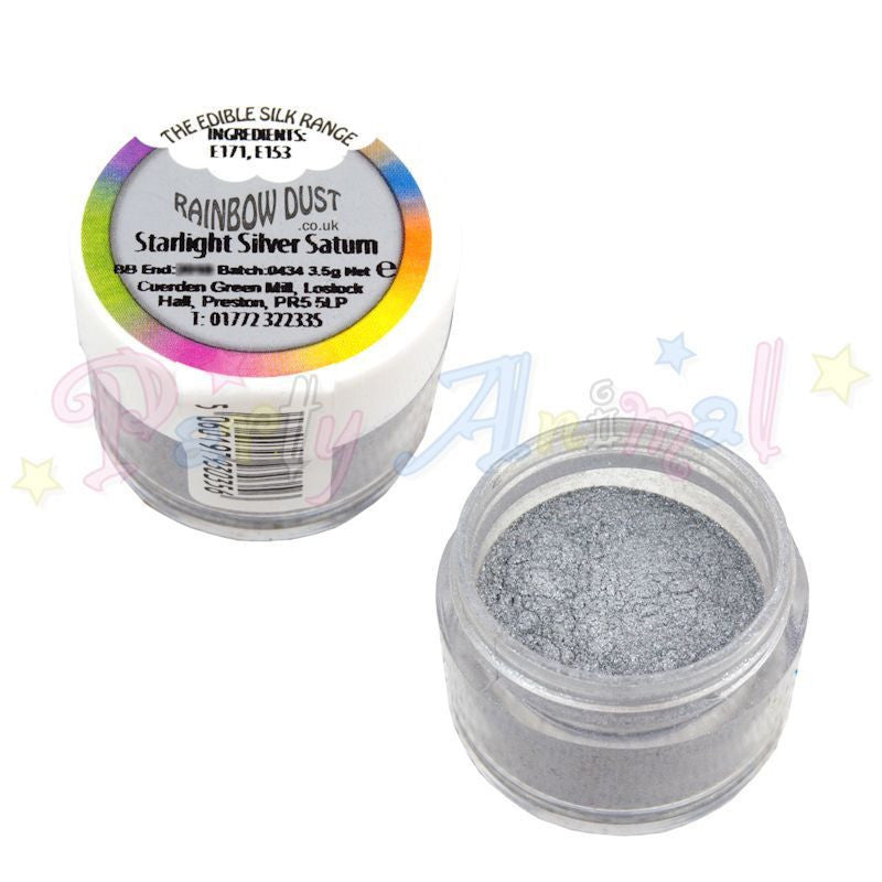 Rainbow Dust  Edible Silk Range - STARLIGHT SILVER SATURN