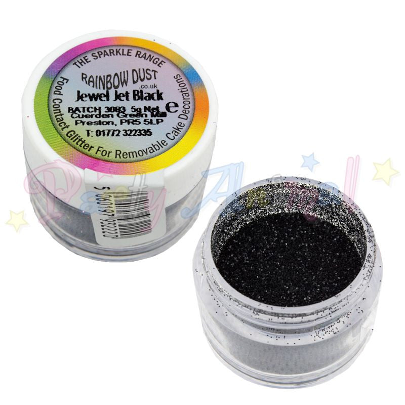 Rainbow Dust Glitter Sparkle Colours - JEWEL JET BLACK