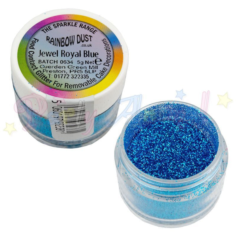 Rainbow Dust Glitter Sparkle Colours - JEWEL ROYAL BLUE