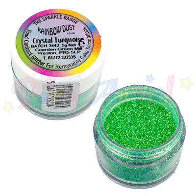 Rainbow Dust Glitter Sparkle Colours - CRYSTAL TURQUOISE