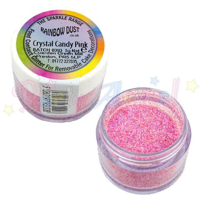 Rainbow Dust Glitter Sparkle Colours - CRYSTAL CANDY PINK