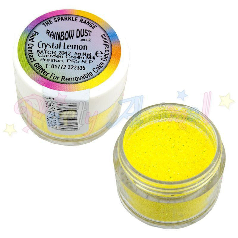 Rainbow Dust Glitter Sparkle Colours - CRYSTAL LEMON