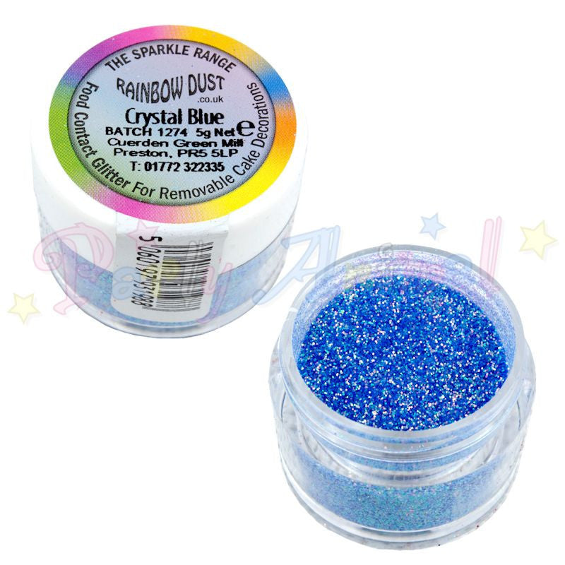 Rainbow Dust Glitter Sparkle Colours - CRYSTAL BLUE