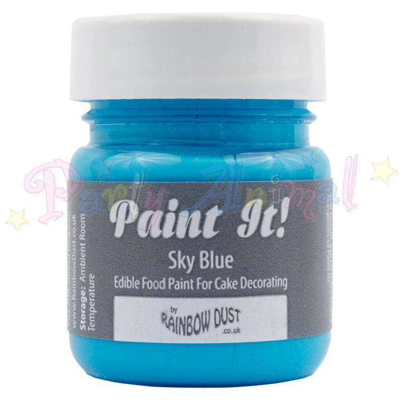 Rainbow Dust Edible Food Paint - Paint It!  SKY BLUE
