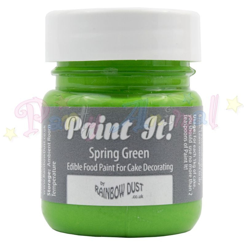 Rainbow Dust Edible Food Paint - Paint It!  SPRING GREEN