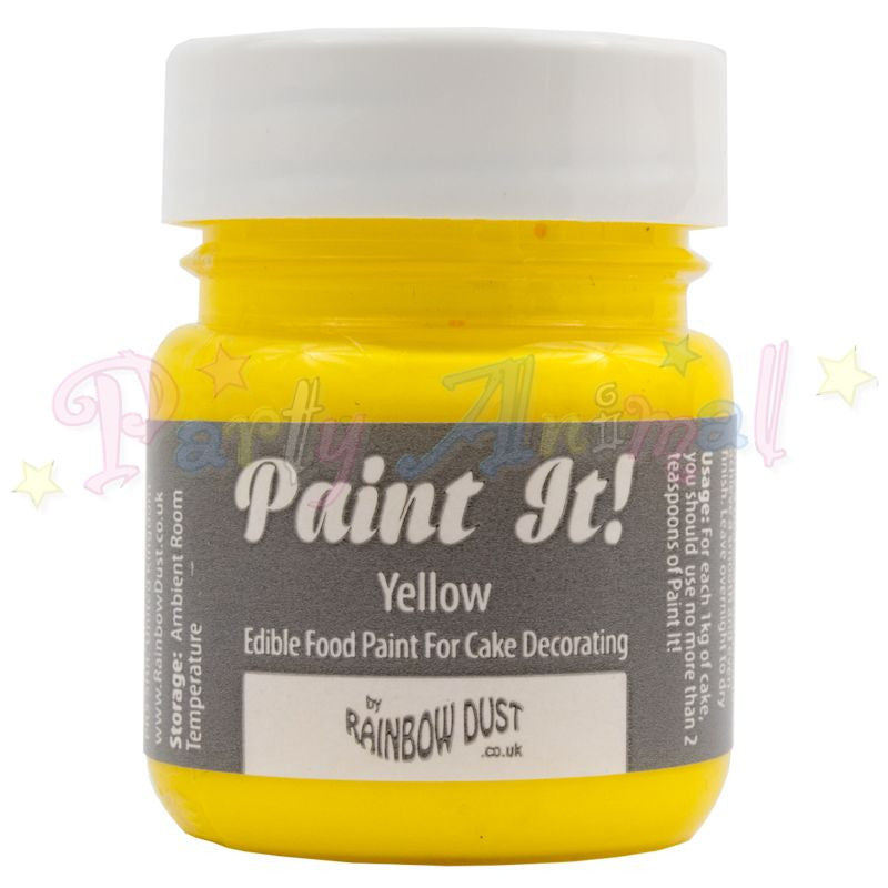 Rainbow Dust Edible Food Paint - Paint It!  YELLOW