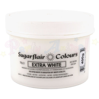 Sugarflair Extra Concentrated Paste - WHITE - BULK 400g Pot