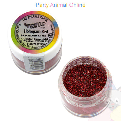 Rainbow Dust Glitter Sparkle Colours - HOLOGRAM RED