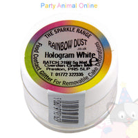 Rainbow Dust Glitter Sparkle Colours - HOLOGRAM WHITE