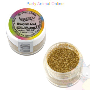 Rainbow Dust Glitter Sparkle Colours - HOLOGRAM GOLD