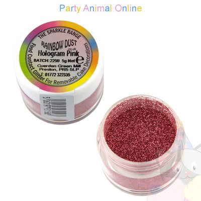 Rainbow Dust Glitter Sparkle Colours - HOLOGRAM PINK
