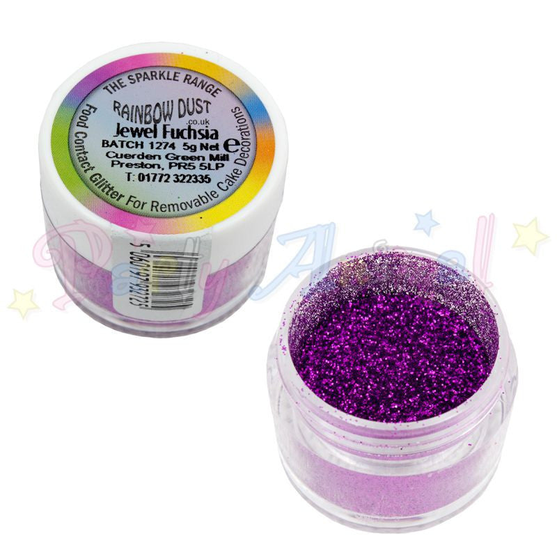 Rainbow Dust Glitter Sparkle Colours - JEWEL FUCHSIA