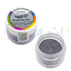 Metallic Dark Silver. Rainbow Dust .edible. from partyanimalonline. Image . cake decoration
