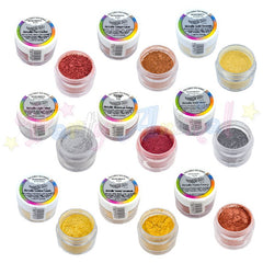 Rainbow Dust Edible Silk METALLIC Colours - Full Set of 9