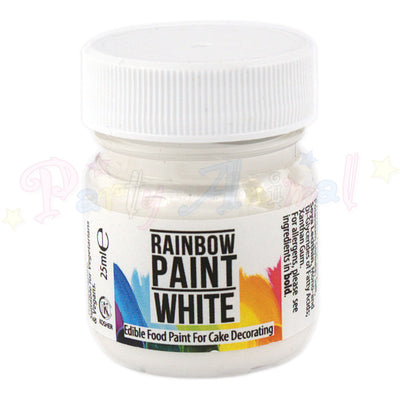 Rainbow Dust Edible Food Paint - WHITE