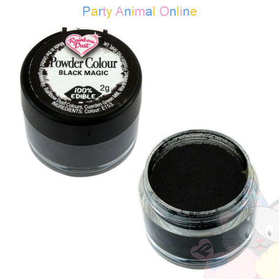 Rainbow Dust Powder Colour Range - BLACK MAGIC