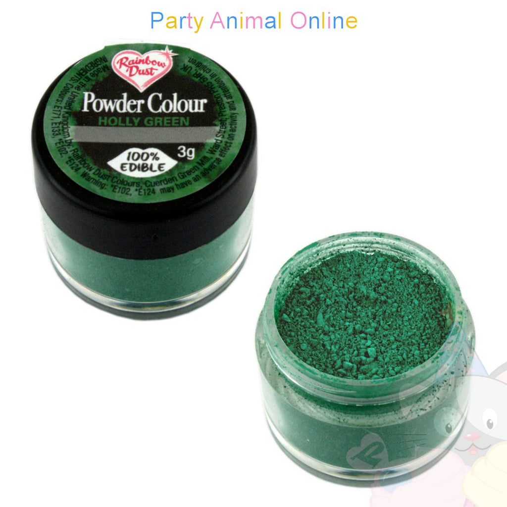 Rainbow Dust Powder Colour Range - HOLLY GREEN