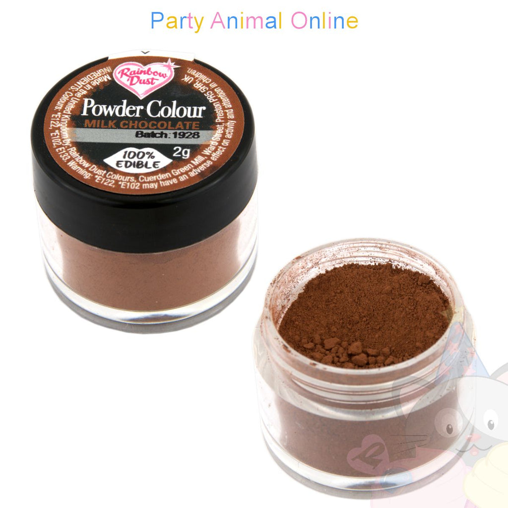 Rainbow Dust Powder Colour Range - MILK CHOCOLATE