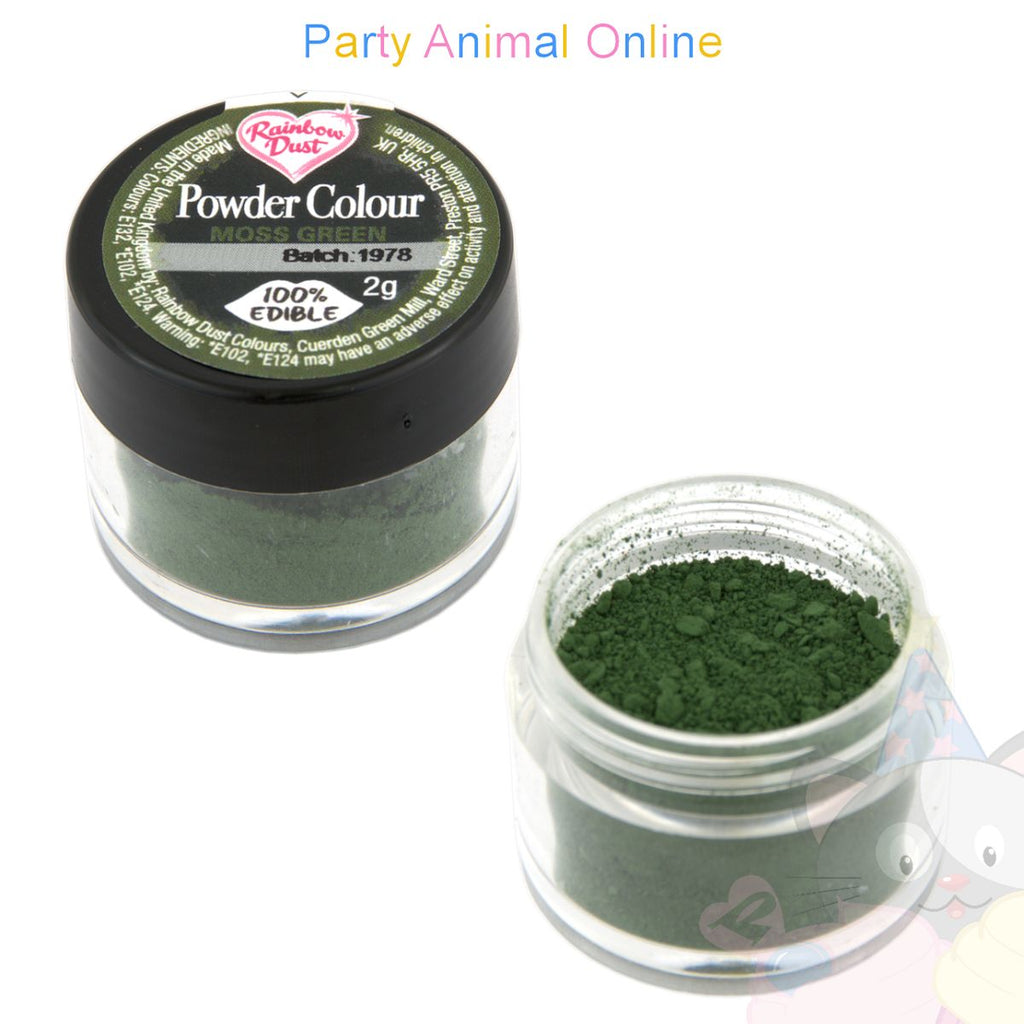 Rainbow Dust Powder Colour Range - MOSS GREEN