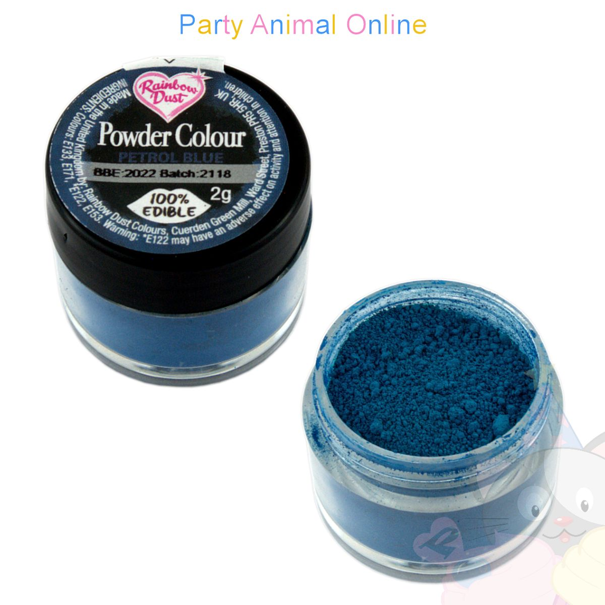 Rainbow Dust Plain and Simple Range - PETROL BLUE