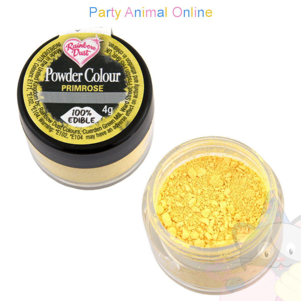 Rainbow Dust Powder Colour Range - PRIMROSE YELLOW