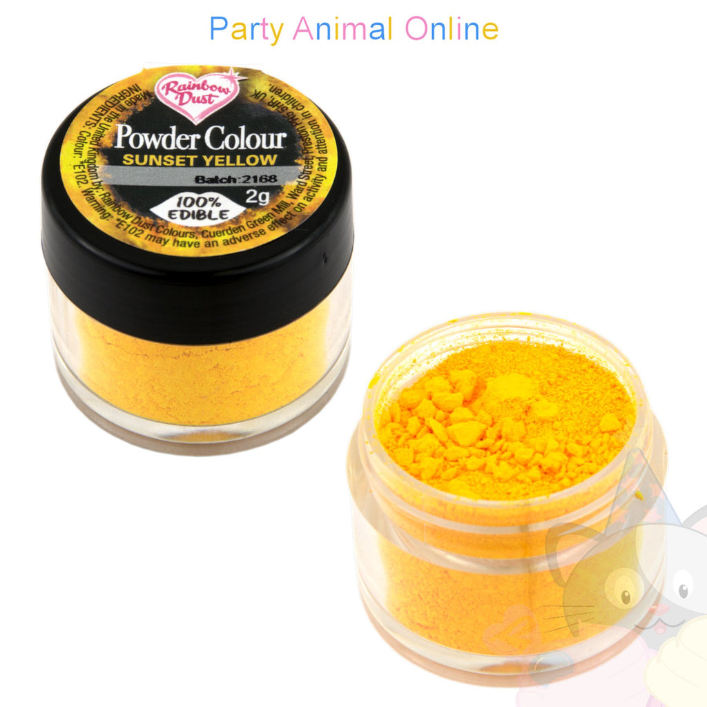 Rainbow Dust Powder Colour Range - SUNSET YELLOW